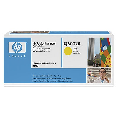 HP Toner Yellow Q6002A für Color LaserJet 1600 2600 2605 CM1015 CM1017, 2k - HP Preferred Partner Gold