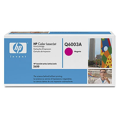 HP Toner Magenta Q6003A für Color LaserJet 1600 2600 2605 CM1015 CM1017, 2k - HP Preferred Partner Gold