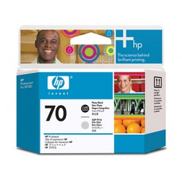 HP Druckkopf Nr. 70 C9407A Photo Black + Light Grey