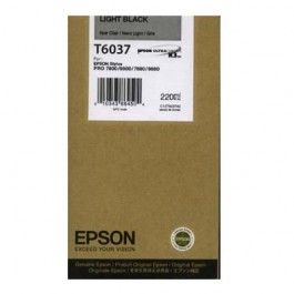 Epson Tinte T6037 Light Black, 220 ml