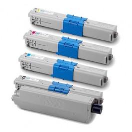 OKI Rainbow Kit für C310 C330 C331 C510 C511 C530 C531 MC361 MC362 MC561 MC562 (Cyan, Magenta, Yellow, Schwarz)
