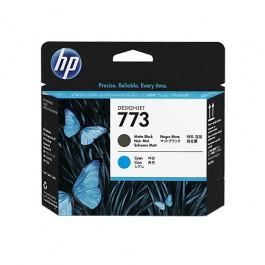 HP Druckkopf 773 C1Q20A Mattschwarz + Cyan