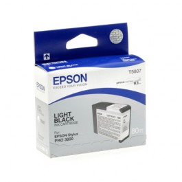 Epson Tinte T5807 Light Black, 80 ml