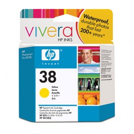 HP Tinte Nr. 38 C9417A Yellow, 27 ml