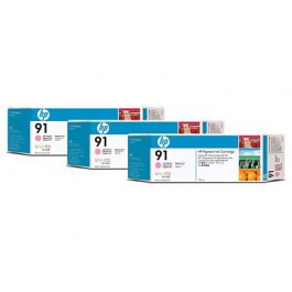 HP Tinte Multipack Nr. 91 C9487A Light Magenta, 3x 775 ml
