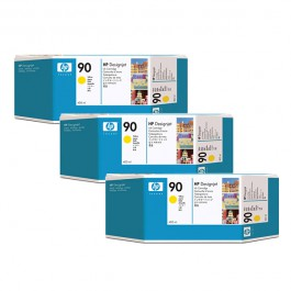 HP Tinte Nr. 90 C5085A Yellow, 3x 400 ml