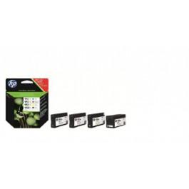 HP XL-Tintenset bestehend aus Cyan, Magenta, Yellow, Schwarz
