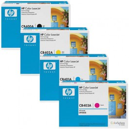 HP Toner-Set High Capacity (Cyan, Magenta, Yellow, Schwarz) für CP4005