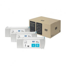 HP Tinte Multipack Nr. 81 C5067A Cyan, 3x 680 ml