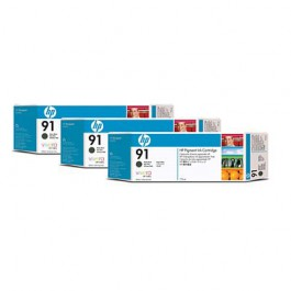 HP Tinte Multipack Nr. 91 C9480A Matt Black, 3x 775 ml