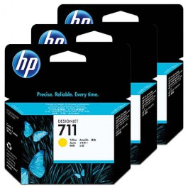 HP Tinte Multipack Nr. 711 CZ136A Yellow, 3x 29 ml