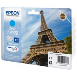 Epson Tinte T7022 Cyan XL, 21 ml