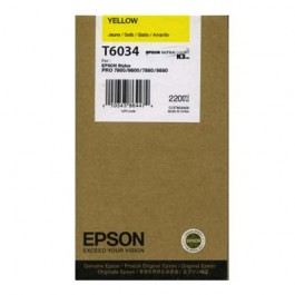 Epson Tinte T6034 Yellow, 220 ml