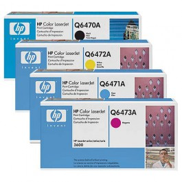HP Toner-Set (Cyan, Magenta, Yellow, Schwarz) für Color LaserJet 3600