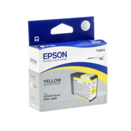 Epson Tinte T5804 Yellow, 80 ml