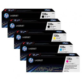 HP Toner-Set High Capacity (Cyan, Magenta, Yellow, Schwarz) für Color LaserJet CM1415 CP1525