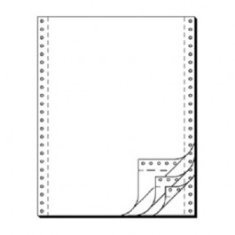 Tabellierpapier, 54 g/m², DIN A4 hoch, vierlagig, blanko, Längsperforation, 500 Blatt