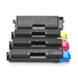 Kyocera Toner-Set TK-590 (Schwarz, Cyan, Magenta, Yellow) für FS-C5250 FS-C2026 FS-C2126 FS-C2526 FS-C2626 M6026 M6526 P6026