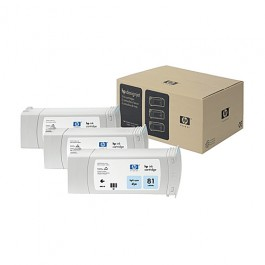 HP Tinte Multipack Nr. 81 C5070A Light Cyan, 3x 680 ml