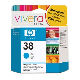 HP Tinte Nr. 38 C9415A Cyan, 27 ml