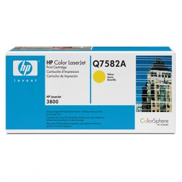 HP Toner Yellow Q7582A für Color LaserJet 3800 / CP3505, 6k