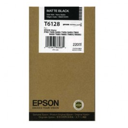 Epson Tinte T6128 Matt Black, 220 ml
