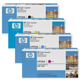 HP Toner-Set (Cyan, Magenta, Yellow, Schwarz) für Color LaserJet 5500 5550