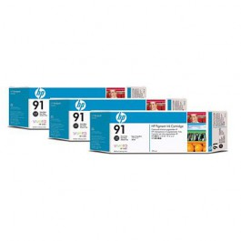 HP Tinte Multipack Nr. 91 C9481A Photo Black, 3x 775 ml
