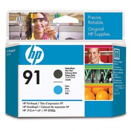 HP Druckkopf Nr. 91 C9460A Matt Black + Cyan