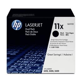 HP Toner Schwarz Q6511XD für LaserJet 2410 2420 2430 2x 12k