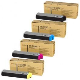 Kyocera Toner-Set TK-520 (Schwarz, Cyan, Magenta, Yellow) für FS-C5015