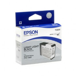 Epson Tinte T5809 Light Light Black, 80 ml