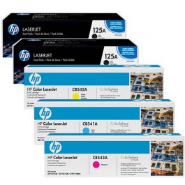 HP Toner-Set High Capacity (Cyan, Magenta, Yellow, Schwarz) für CM1312 CP1215 CP1515