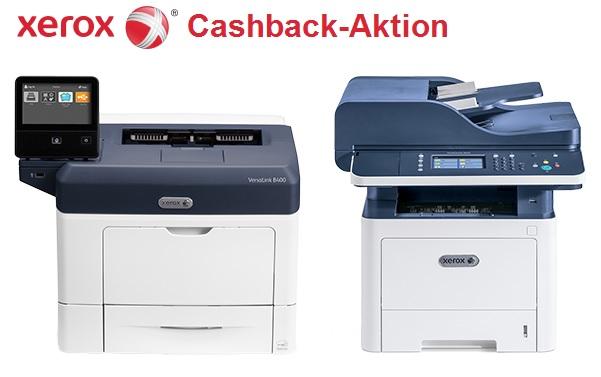 Xerox Cashback-Aktion für Schwarzweiß-Drucker und -Multifunktionssysteme