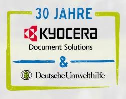 30 Jahre Zusammenarbeit Kyocera Document Solutions und Deutsche Umwelthilfe