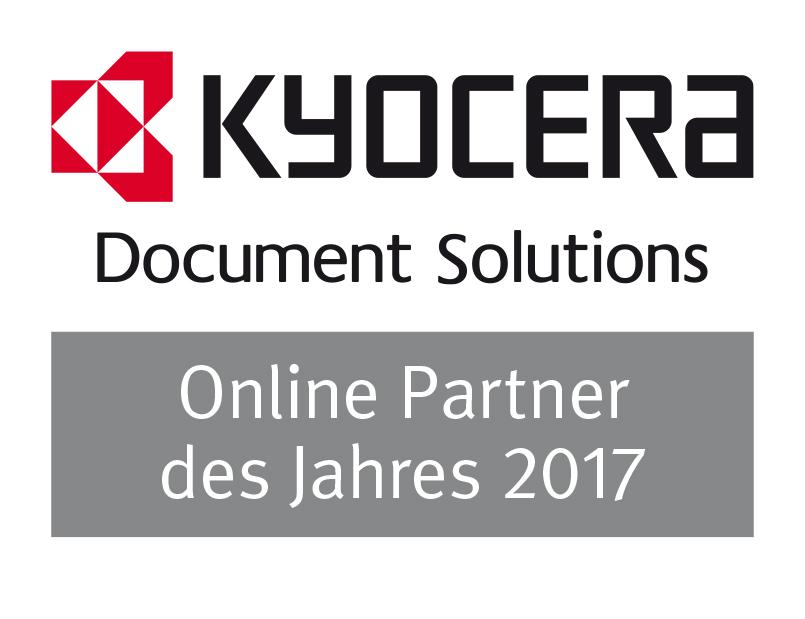 Kyocera Auszeichnung Online Partner des Jahres 2017