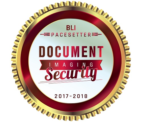 "BLI Pacesetter ""Document Imaging Security"" 2017-2018"