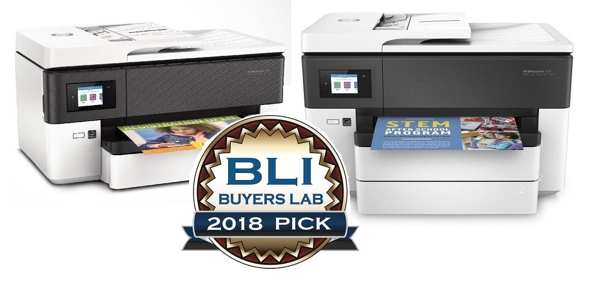 BLI Winter Pick 2018 Award für die HP OfficeJet Pro 7700 Serie