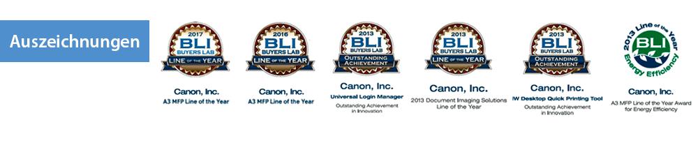 BLI-Auszeichnungen für die Canon imageRUNNER ADVANCE-Serie