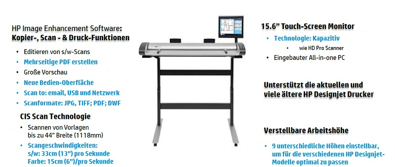 HP Designjet SD Pro Scanner Features