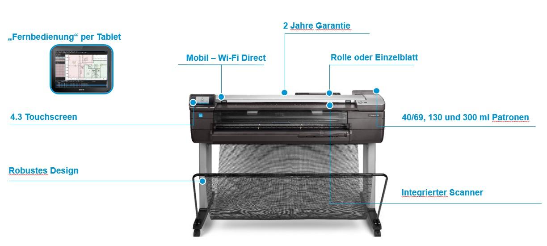 HP DesignJet T830 Produkthighlights