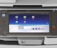 Ricoh MP C2503ZSP Multi-Touch-Bedienfeld