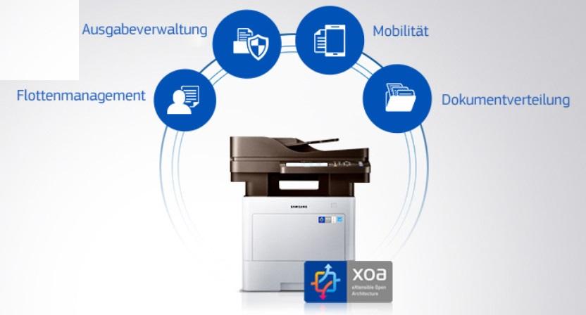 Samsung ProXpress M4080FX mit offener XOA-Plattform